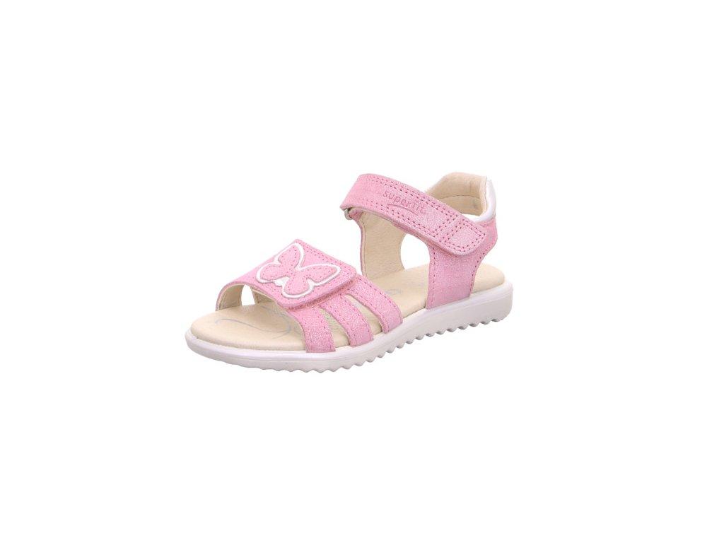 0f208ffcc0b6c Dievčenské celokožené sandále Superfit 4 00009 55 - beni.sk