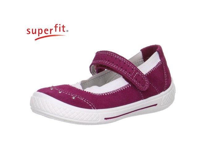 Detské dievčenské celokožené balerínky Superfit 0 00105 37