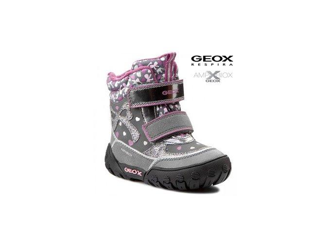 Dievčenská nepremokavá zimná obuv Geox B5404A 050AU C1006