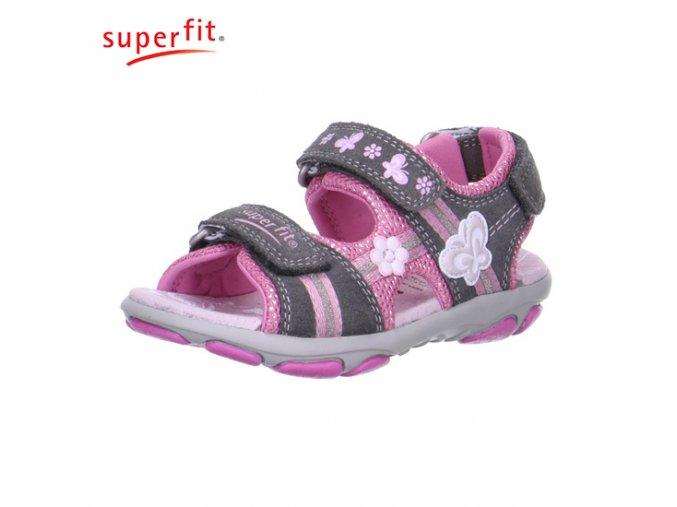 Dievčenské sandále Superfit 6 00130 06 - CENA JE PO ZĽAVE 20%, UŠETRÍTE 11,- EUR
