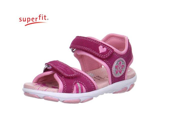 Detské dievčenské sandále Superfit 0 00128 37  - CENA JE PO ZĽAVE 20%, UŠETRÍTE 8,44 EUR