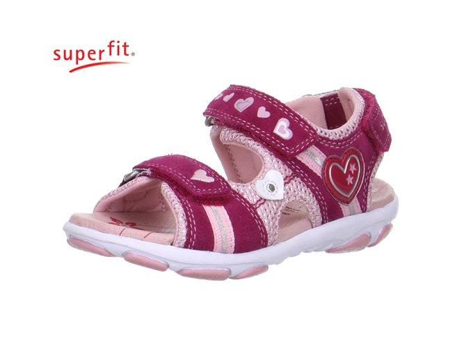 Dievčenské sandále Superfit 0 00130 37 - CENA JE PO ZĽAVE 20%, UŠETRÍTE 11,- EUR