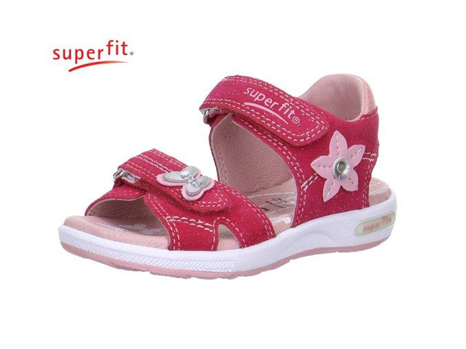 Detské dievčenské sandále Superfit 2 00131 63  - CENA JE PO ZĽAVE 20%, UŠETRÍTE 11,9 EUR