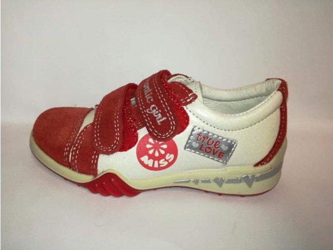 Dievčenská kožená vychádzková obuv 85292 7064