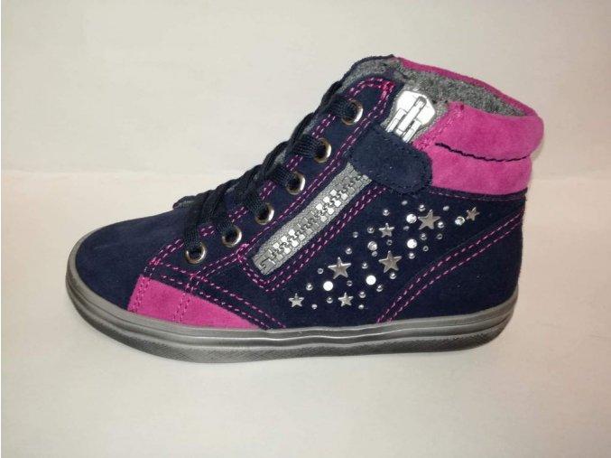 Mierne zateplené blikajúce dievčenské topánky Richter 4449 241 7201