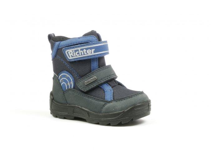Detská chlapčenská zimná nepremokavá obuv Richter 2032 441 6501  - CENA JE PO ZĽAVE 20%, UŠETRÍTE 12,28 EUR (veľk.23) 13,2 EUR (veľk.27)