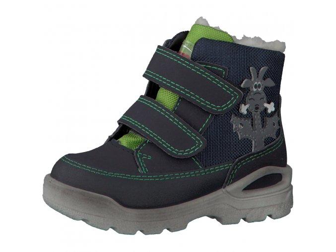 Detská chlapčenská nepremokavá zimná blikajúca obuv Ricosta Bixi 68 39214/184