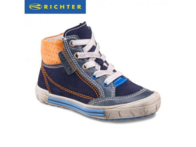 Detská obuv celokožená celoročná Richter 6142 321 7201