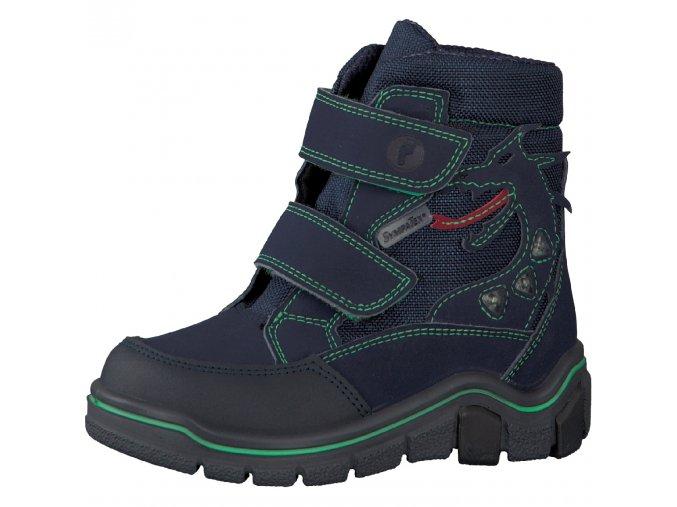Chlapčenská nepremokavá zimná blikajúca obuv Ricosta 70 52211/170