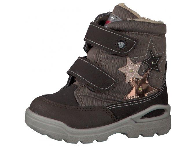 Detská dievčenská nepremokavá zimná blikajúca obuv Ricosta 70 39221/260