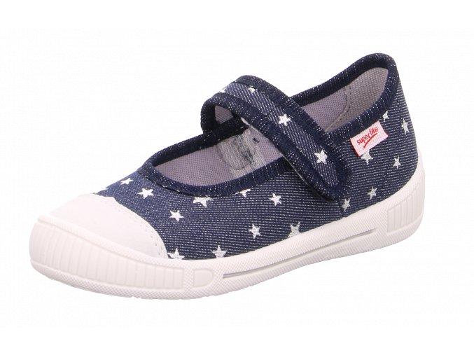Detské dievčenské plátené papučky Superfit 8 00261 80