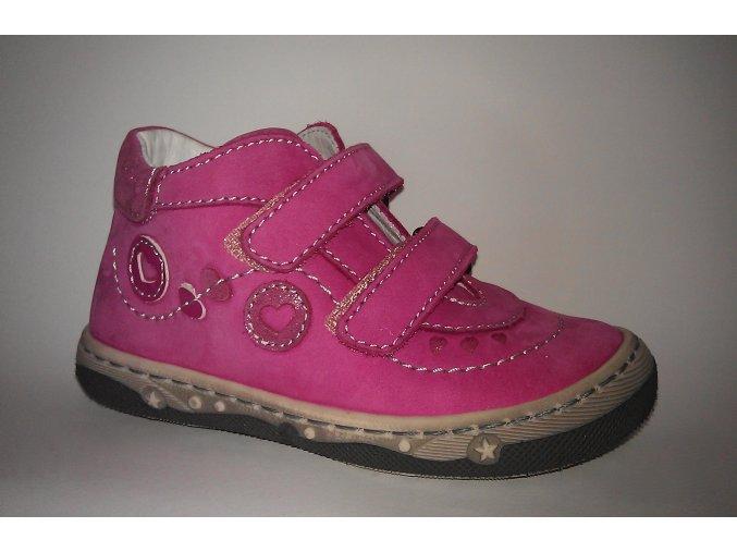 Ciciban celokožená obuv 732291U Kiss fuxia