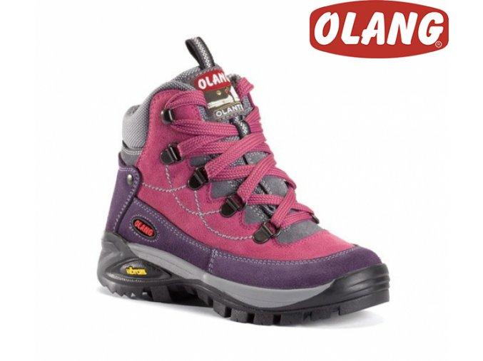 Trekingové topánky Olang Stelvio Kid tex ružová
