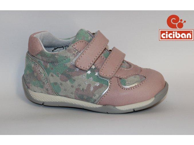 Detská celokožená obuv Ciciban Over rosa
