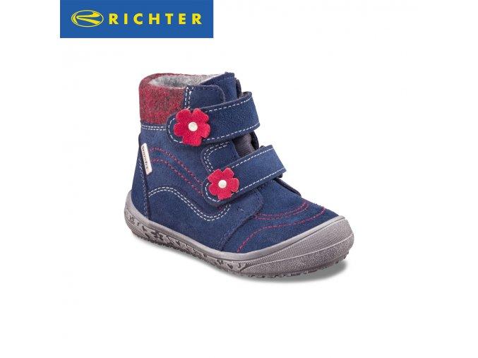 Detské zimné topánky Richter s membránou Sympatex 1332 422 7202  - CENA JE PO ZĽAVE 20%, UŠETRÍTE 12,22 EUR (veľk.23) 13,04 EUR (veľk.28)