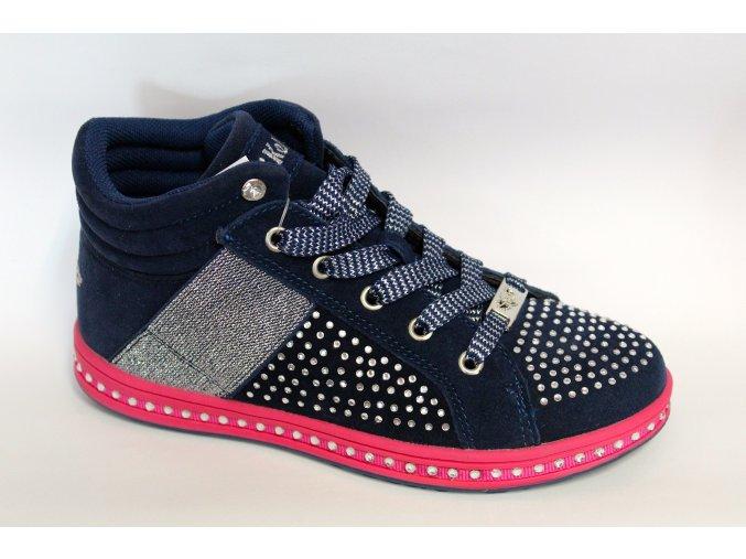 Dievčenské kožené topánky Lelli Kelly LK 6980 Blu suede