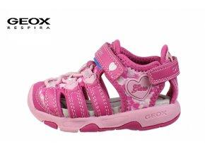 Detské dievčenské sandále Geox B620DA 054EE C8230  - CENA JE PO ZĽAVE 20%, UŠETRÍTE 8,96 EUR (veľk.22) 9,86 EUR (veľk.25,27)