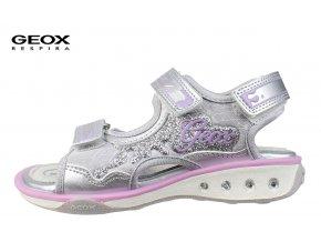 Dievčenské blikajúce sandále Geox J6292A 0EENF C1316