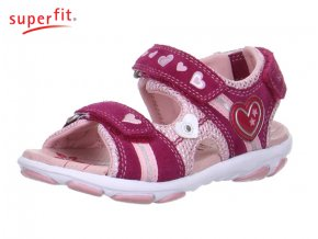 20c3a61e4627d Dievčenské sandále Superfit 0 00130 37 - CENA JE PO ZĽAVE 20%, UŠETRÍTE 11  Akcia. Neohodnotené. Detská obuv sandálová ...