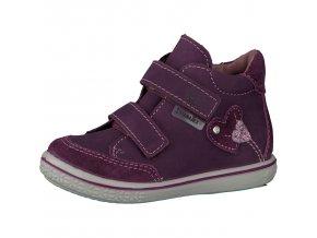 Dievčenská nepremokavá celokožená obuv Ricosta LARA merlot 68 25214/364