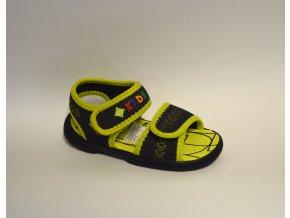 Detské sandále LICO 641025 marine/lemon  - CENA JE PO ZĽAVE 20%, UŠETRÍTE 3,55 EUR