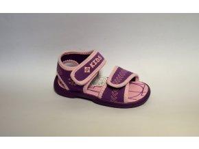 Detské sandále LICO 641024 lila/rosa
