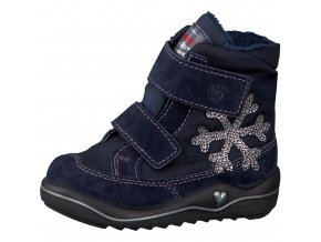 Detská dievčenská zimná nepremokavá obuv Ricosta Hildi nautic 68 38231/171