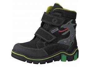 Detská chlapčenská nepremokavá zimná blikajúca obuv Ricosta Grisu 68 52211/091