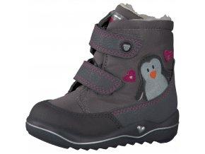 Detská dievčenská zimná nepremokavá blikajúca obuv Ricosta Pingu 68 38233/473