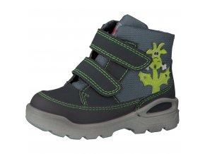 Detská chlapčenská nepremokavá zimná blikajúca obuv Ricosta Bixi 68 39214/454