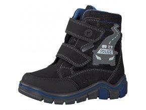 Chlapčenská nepremokavá zimná blikajúca obuv Ricosta 70 52319/090