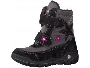 Dievčenská nepremokavá zimná blikajúca obuv Ricosta 70 84216/470