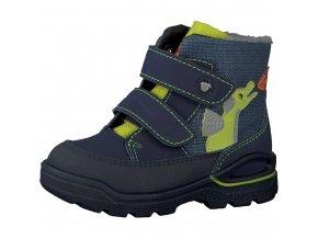 Detská chlapčenská nepremokavá zimná blikajúca obuv Ricosta 70 39215/140