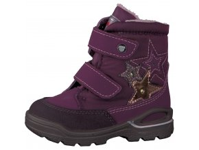 Detská dievčenská nepremokavá zimná blikajúca obuv Ricosta 70 39221/380