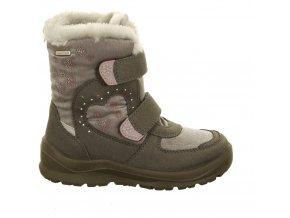 Dievčenské zimné nepremokavé blikajúce topánky Lurchi by Salamander 33-31028-49