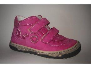 Ciciban členková celokožená obuv 732291 U Kiss fuxia