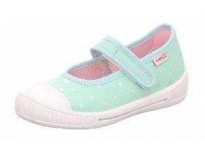 Detské dievčenské plátené papučky Superfit 8 00261 70
