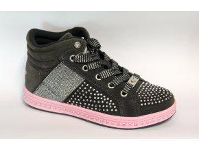 Dievčenské kožené topánky Lelli Kelly LK 6980 Grigio suede