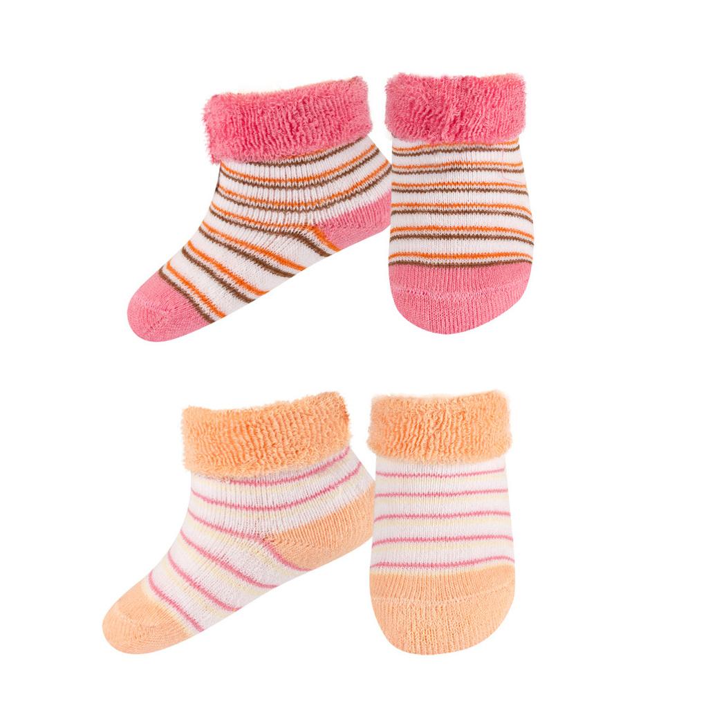 Kojenecké froté ponožky 2páry růžové  8c44e0cc4f