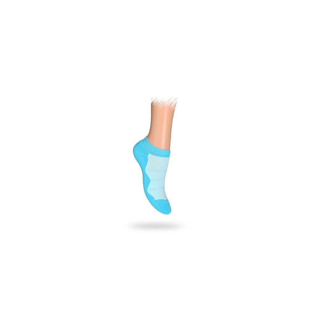 Dětské kotníkové ponožky PROUŽKY tyrkysové