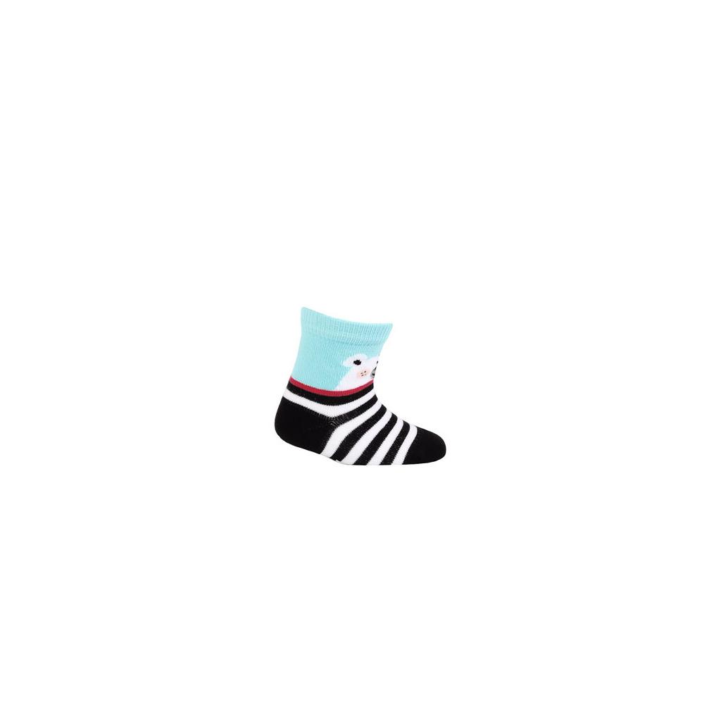 fb8a44d9a6e Kojenecké ponožky WOLA se vzorem MÉĎA