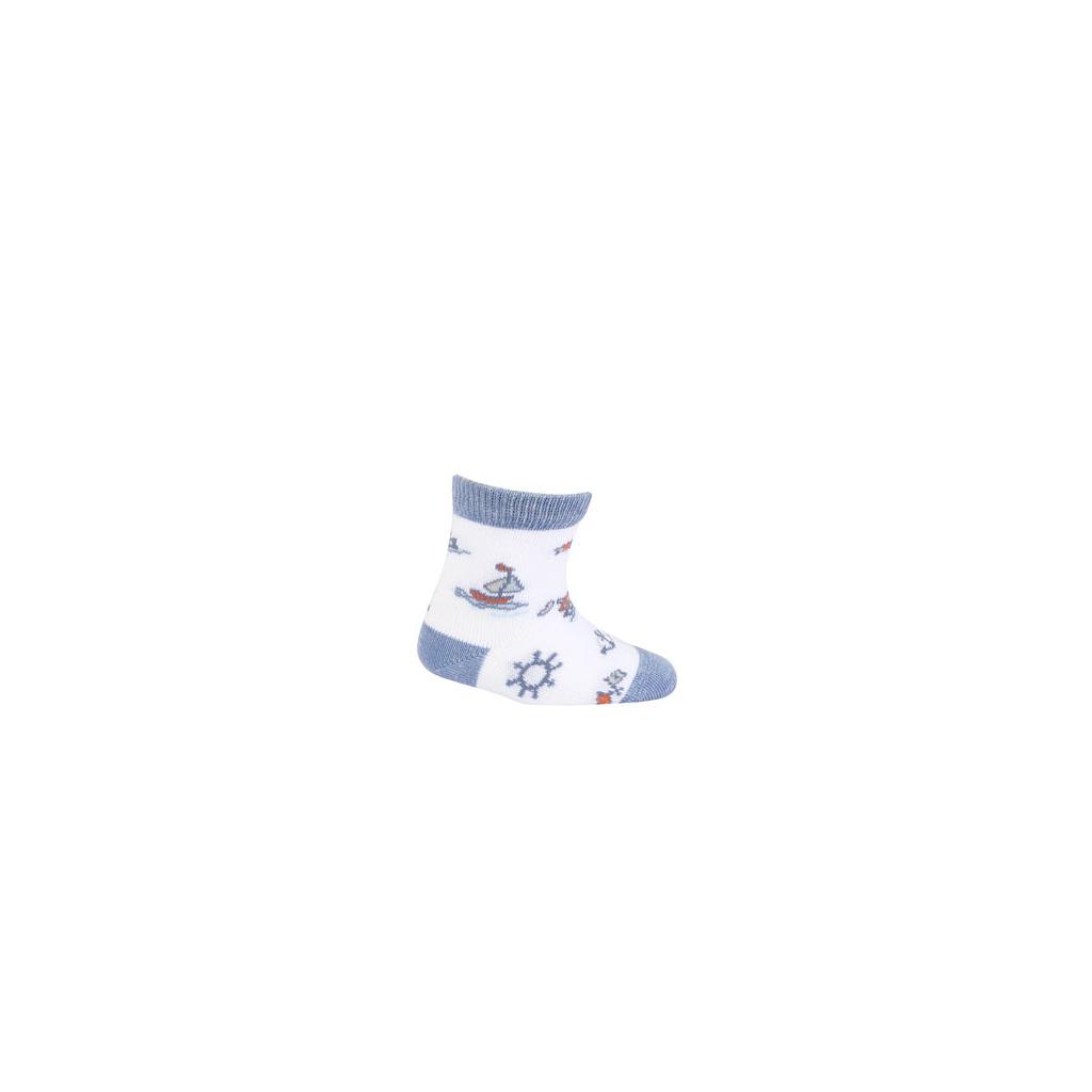 Vzorované kojenecké ponožky GATTA LOĎKY