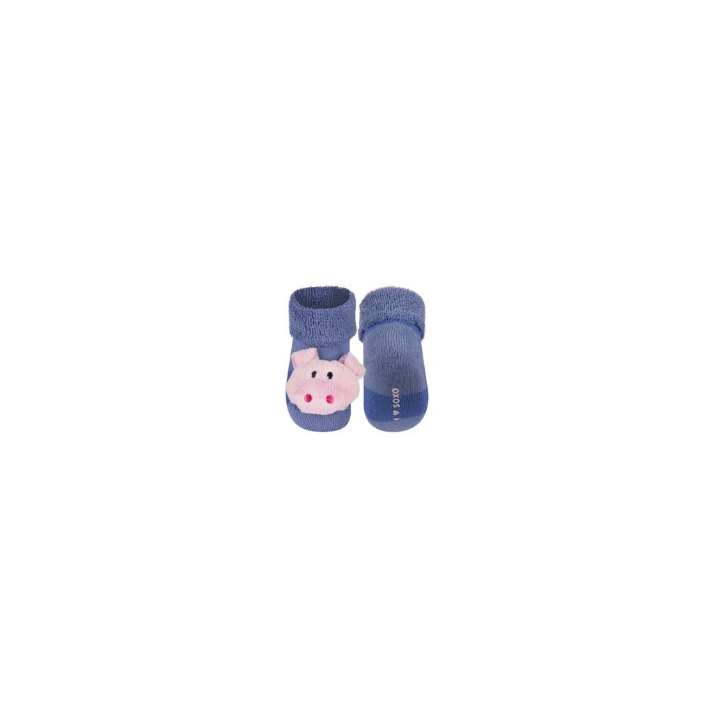 Ponožky s chrastítkem PRASÁTKO