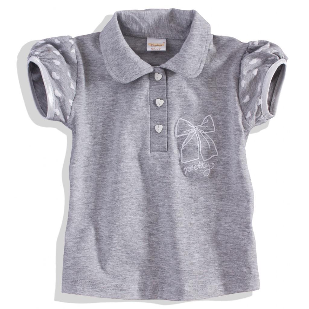 Dívčí tričko s límečkem 'PRETTY'