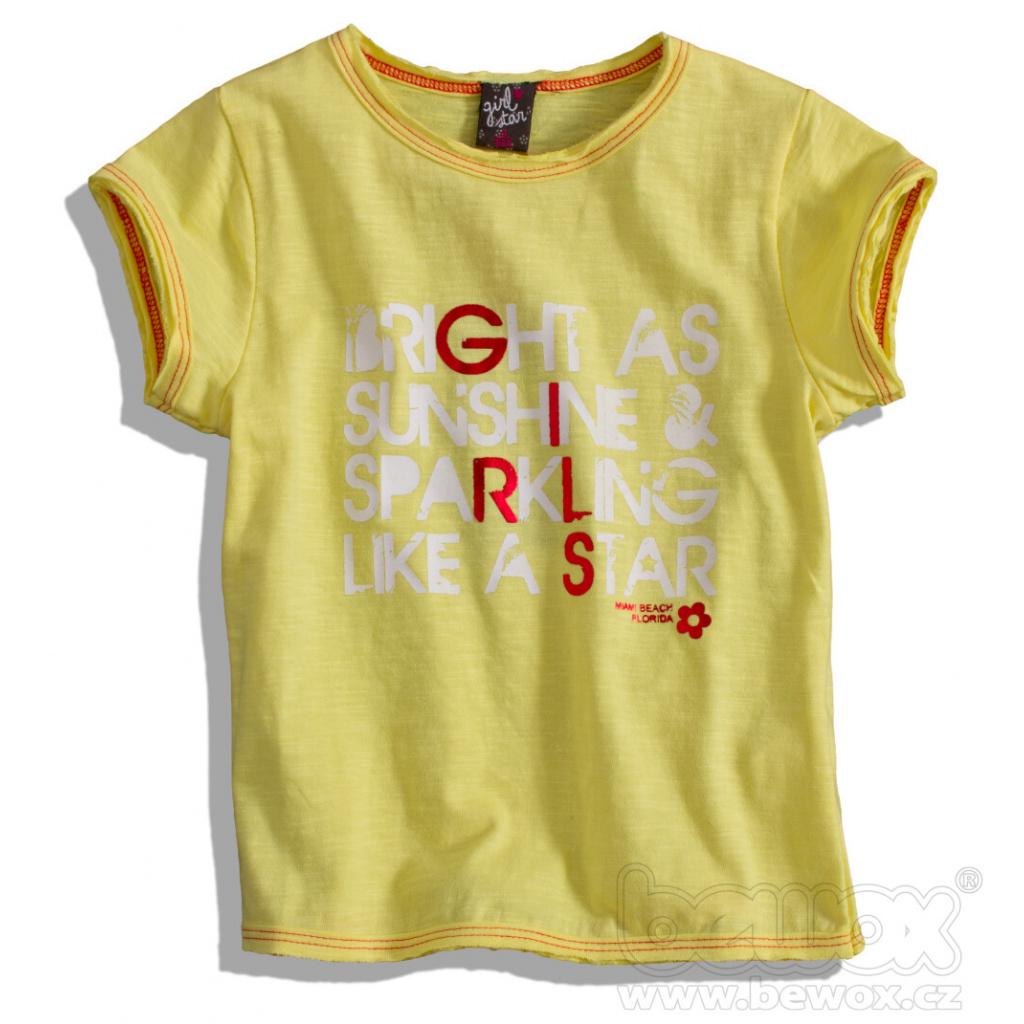 Dívčí tričko GIRLSTAR žluté