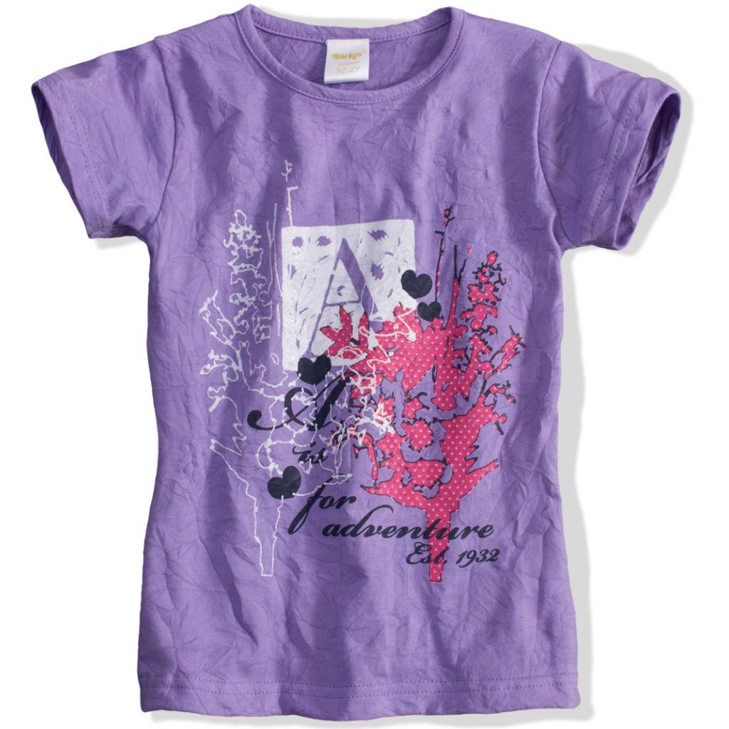 Kojenecké dívčí tričko DIRKJE fialové