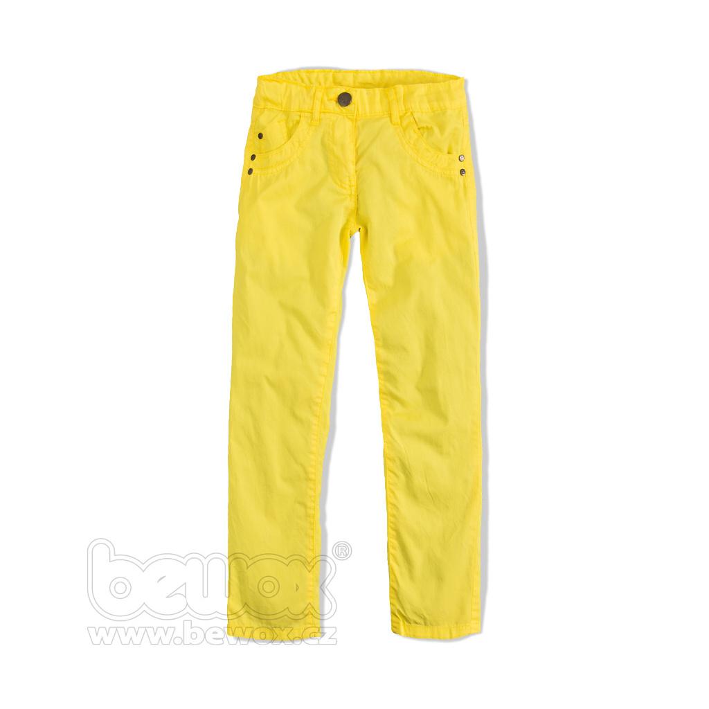 Dívčí plátěné kalhoty Knot So Bad YELL žluté