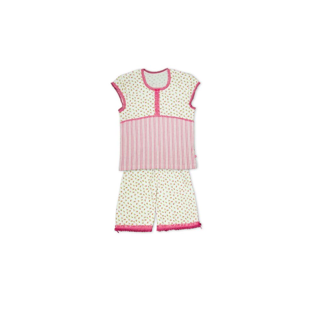 Dívčí letní pyžamo KEY DITSY bílé