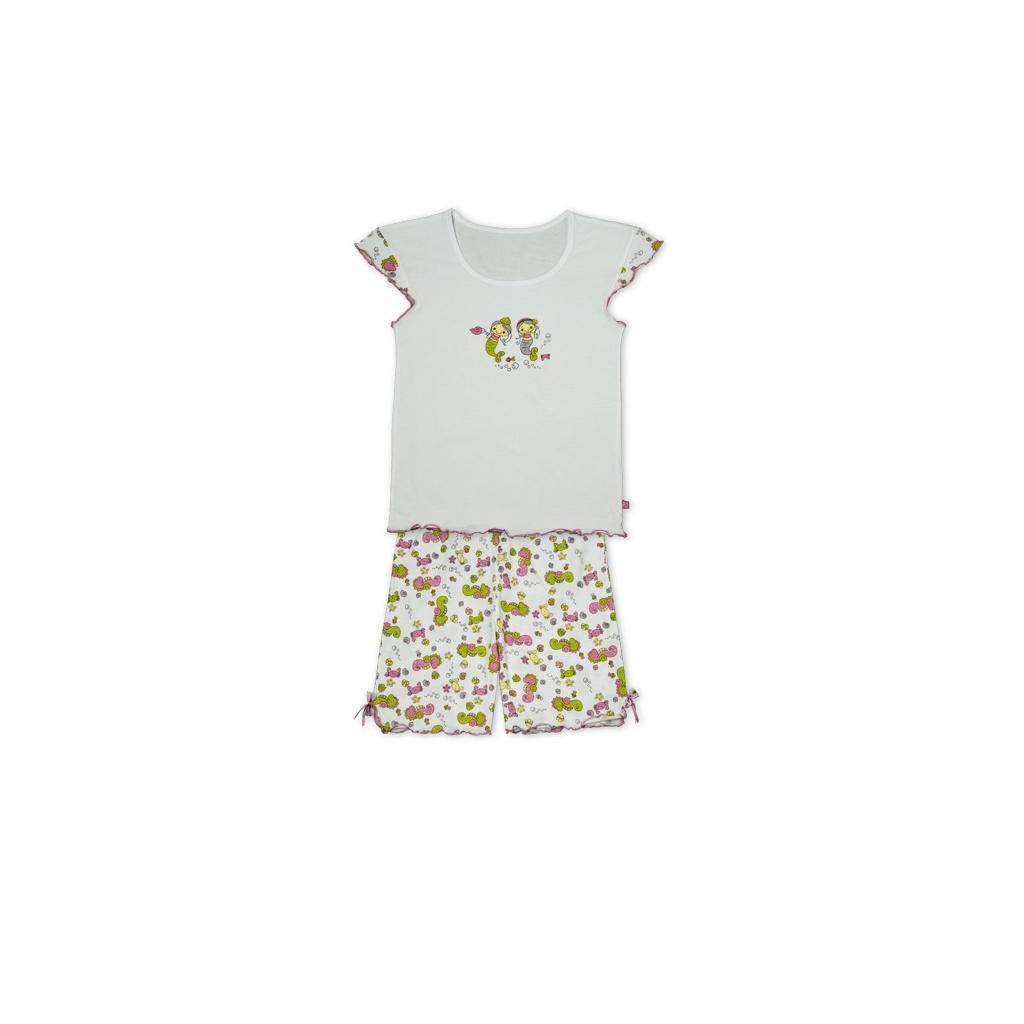 Dívčí letní pyžamo KEY MERMAID bílé