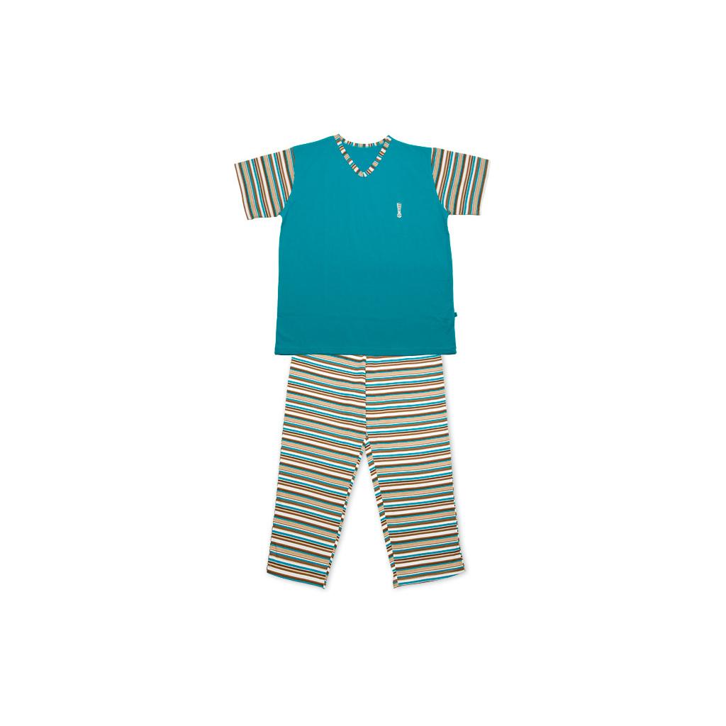 Dívčí pyžamo KEY STRIPES tyrkysové